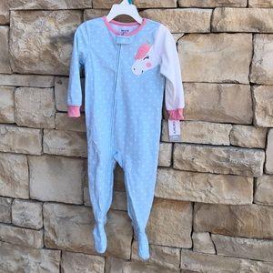 NWT Carter's Unicorn Footed Sleeper Pajamas 24M